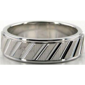 18K Gold 7mm Diamond Cut Wedding Band 686