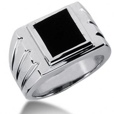 Men's Onyx Ring 128-MDR1224