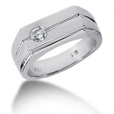 Men's Diamond Ring 1 Round Stone 0.25 ct 141-MDR1019