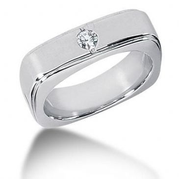 Men's Diamond Ring 1 Round Stone 0.15 ct 144-MDR1289