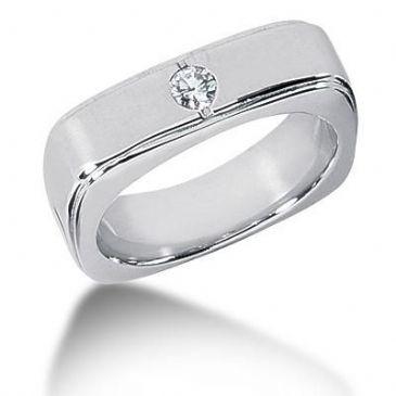Men's Diamond Ring 1 Round Stone 0.15 ct 144-MDR1289