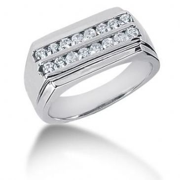 Men's Diamond Ring 16 Round Stone 0.03 ct Total 0.48 ctw 153-MDR1086