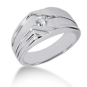 Men's Diamond Ring 1 Round Stone 0.25 ctw 158-MDR1271