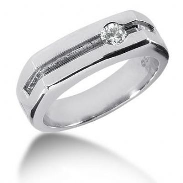 Men's Diamond Ring 1 Round Stone 0.25 ctw 159-MDR139