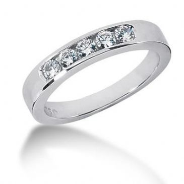 Men's Diamond Ring 5 Round Stone 0.12 ct Total 0.60 ctw 160-MDR1231