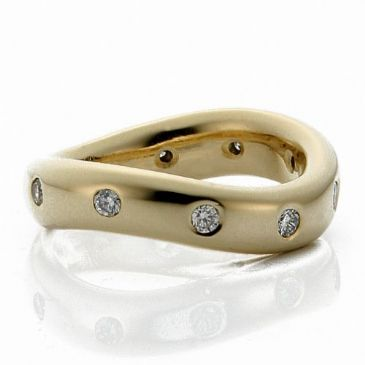 18k Yellow Gold 5mm Diamond Wedding Bands Rings 1964
