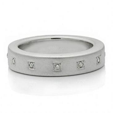 14K Gold 5mm Diamond Wedding Band Rings 1965