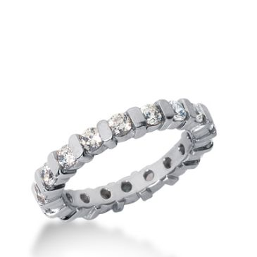 950 Platinum Diamond Eternity Wedding Bands, Bar Setting 1.50 ct. DEB324PLT