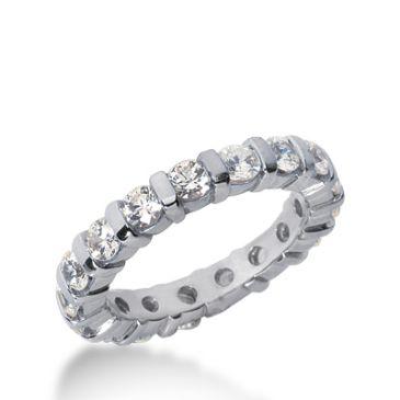 18k Gold Diamond Eternity Wedding Bands, Bar Setting 2.00 ct. DEB32518K
