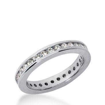 18k Gold Diamond Eternity Wedding Bands, Channel Setting 0.50 ct. DEB421218K