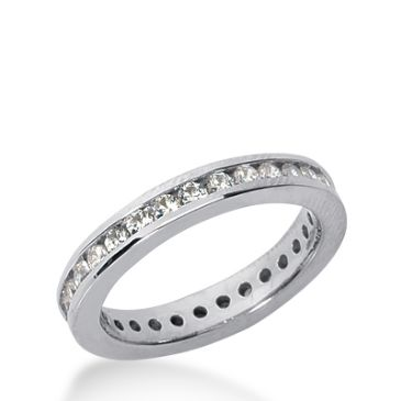 950 Platinum Diamond Eternity Wedding Bands, Channel Setting 0.50 ct. DEB4212PLT