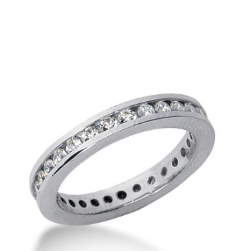 18k Gold Diamond Eternity Wedding Bands, Channel Setting 1.00 ct. DEB421318K