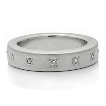 950 Platinum 5mm Diamond Wedding Band Rings 1965
