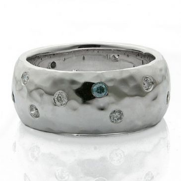 950 Platinum 10mm Diamond Wedding Band Rings 1966