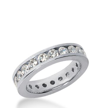 18k Gold Diamond Eternity Wedding Bands, Channel Setting 2.00 ct. DEB4211018K