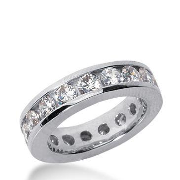 950 Platinum Diamond Eternity Wedding Bands, Channel Setting 3.00 ct. DEB42120PLT