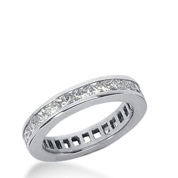 18k Gold Diamond Eternity Wedding Bands, Channel Setting 1.50 ct. DEB160118K
