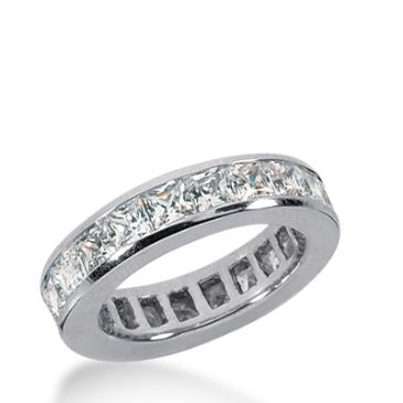 950 Platinum Diamond Eternity Wedding Bands, Channel Setting 2.50 ct. DEB1602PLT