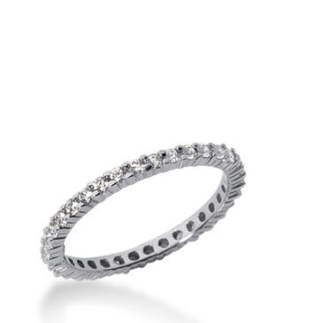 18k Gold Diamond Eternity Wedding Bands, Shared Prong Setting 0.50 ct. DEB1001518K
