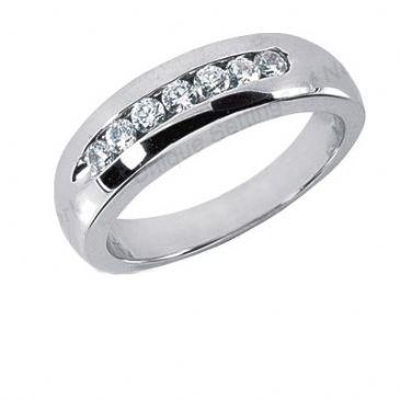 Men's Diamond Ring 7 Round Stones 0.05ct Total 0.35ctw 165-MDR1169