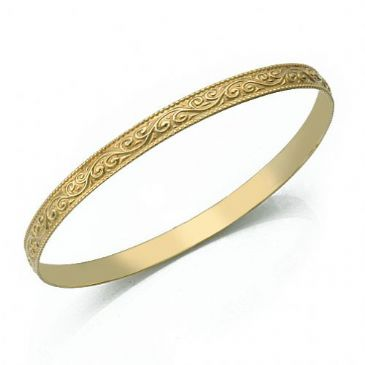5mm Classic Design Moroccan Womens Bangle 035-5CDMWB