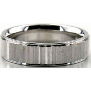 14K Gold 6mm Diamond Cut Wedding Band 672
