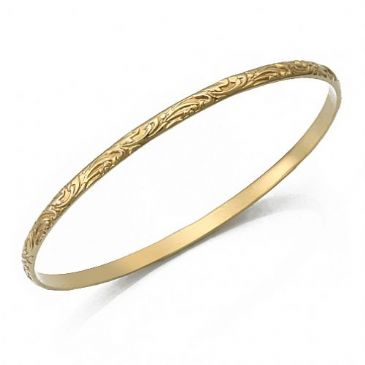 4mm Classic Design Moroccan Womens Bangle 035-4CDMWB