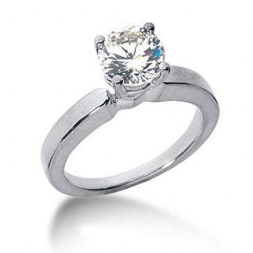 18K Gold Solitaire Diamond Engagement Ring  1.5ctw. 3001-ENGS14K-6383
