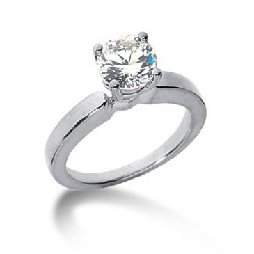 18K Gold Solitaire Diamond Engagement Ring 1 ctw. 3000-ENGS18K-6382