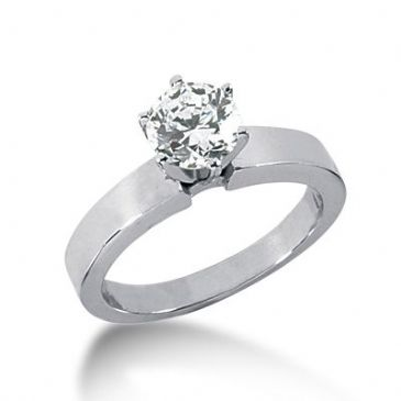 18K Gold Solitaire Diamond Engagement Ring 1ctw. 3002ENGS18K