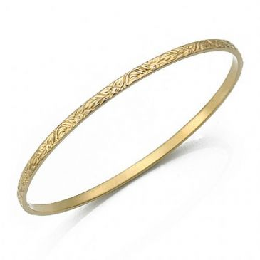 3mm Classic Design Moroccan Womens Bangle  011-3CDMWB