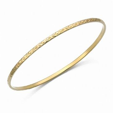 2.5mm Classic Design Moroccan Womens Bangle  009-25CDMWB