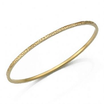 2mm Flat Classic Design Moroccan Womens Bangle 018-2FCDMWB