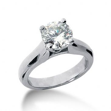18K Gold Solitaire Diamond Engagement Ring 1.25ctw. 3003-ENGS18K-6658