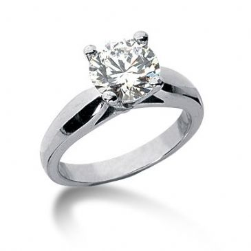 18K Gold Solitaire Diamond Engagement Ring 1.25ctw. 3004-ENGS18K-6661