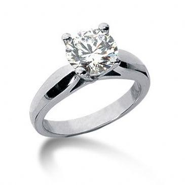Platinum Solitaire Diamond Engagement Ring 1.25ctw. 3004-ENGSPLAT-6661
