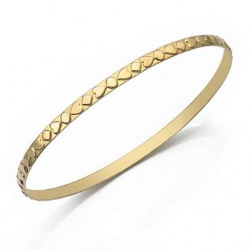 3.5mm Classic Moroccan Heart Womens Bangle 008-35CMHWB