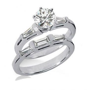 14K Gold Diamond Engagement Bridal Set 1.87ctw 4000-14KENBR