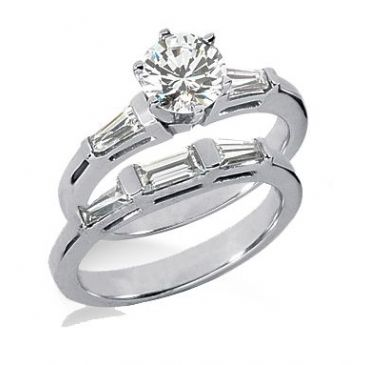 18K Gold Diamond Engagement Set 1.87ctw. 4000-18KENBR-101