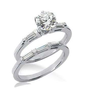 14K Gold Diamond Engagement Bridal Set 1.39ctw.