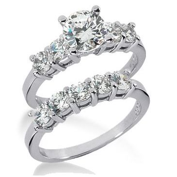 Platinum Diamond Engagement Bridal Set 2.35ctw. 4007-PLATENBR-143