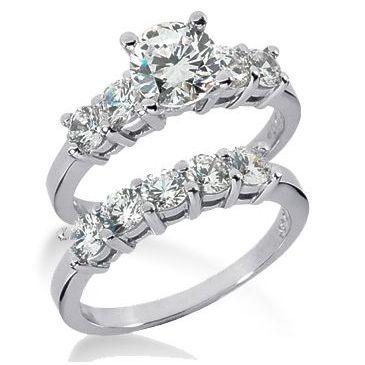 Platinum Diamond Engagement Bridal Set 2.35ctw. 4007-PLATENBR-143