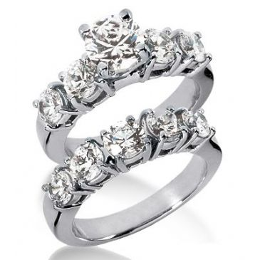 Platinum Diamond Engagement Bridal Set 4.50ctw. 4011-PLATENBR-331