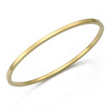 2.5mm Plain Flat Heavyweight Womens Gold Bangle