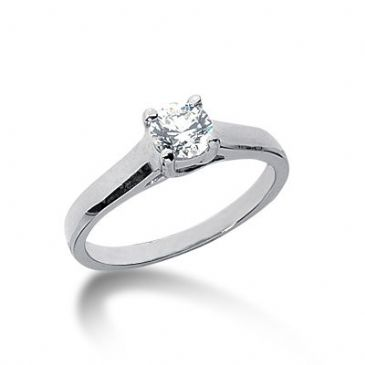 14K Gold Solitaire Diamond Engagement Ring 0.50ctw.