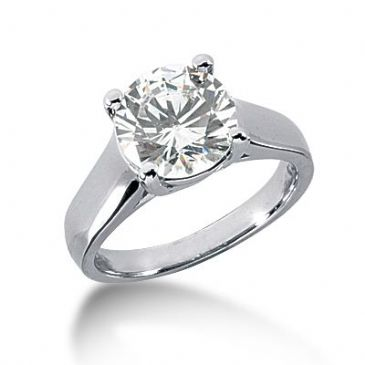 18K Gold Solitaire Diamond Engagement Ring 3 ctw. 3008-ENGS18K-430-3
