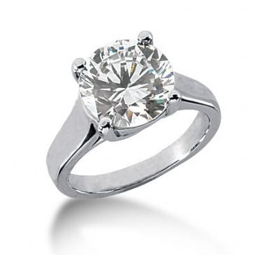 14K Gold Solitaire Diamond Engagement Ring 4 ctw. 3009-ENGS14K-430-4