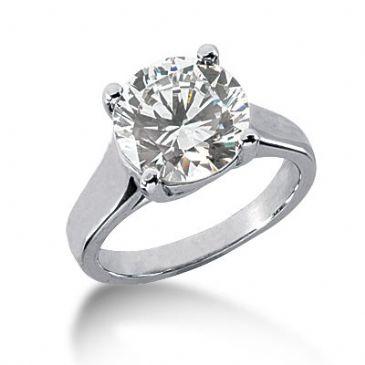 Platinum Solitaire Diamond Engagement Ring 4.00 ctw. 430