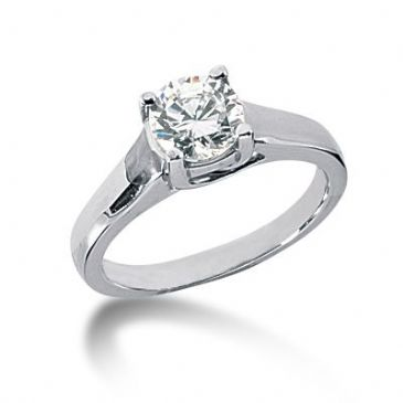 18K Gold Solitaire Diamond Engagement Ring 1.25 ctw. 3010