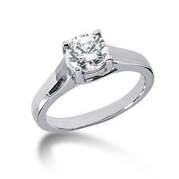 Platinum Solitaire Diamond Engagement Ring 1.25 ctw. 3010-ENGSPLAT-2536